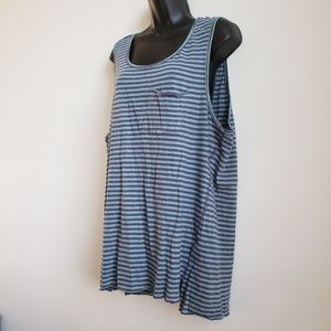 Three Feathers Striped Plus Size Tank